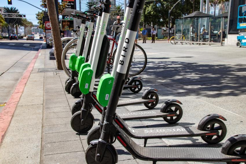 The Bird scooters.