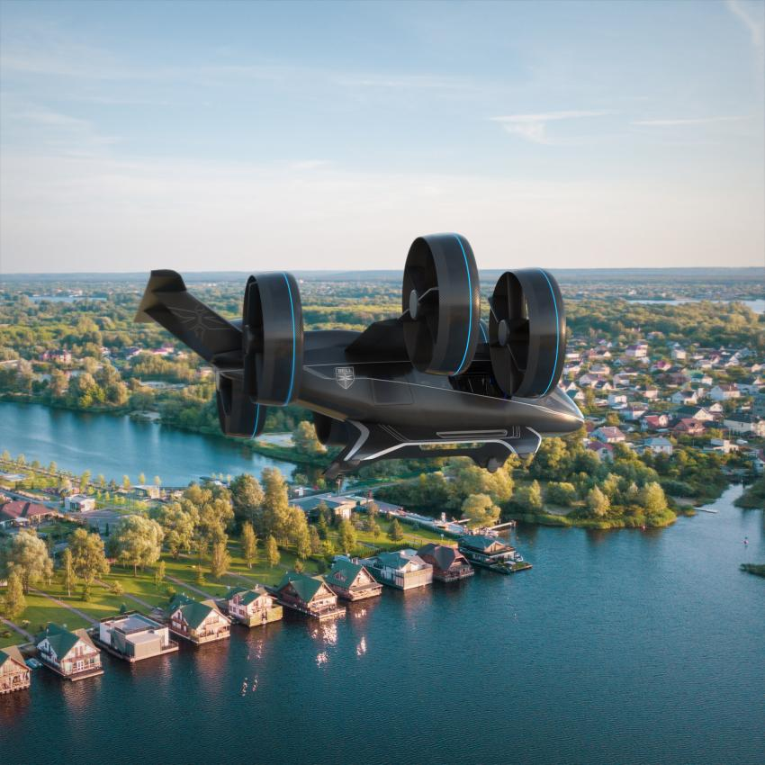 Image: Bell's flying taxi as presented at CES 2019, urban mobility will be in the air.