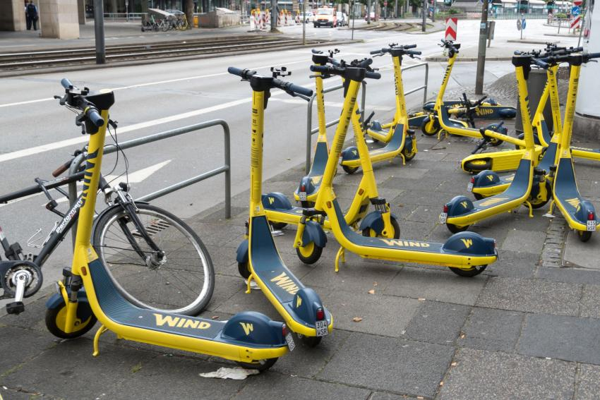 Wind e-scooters.