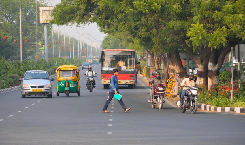 Road in Jaipur, India
